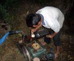 Đi bơm nước cấy lúa bị điện giật chết